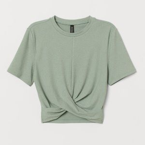 h&m knot-detailed top